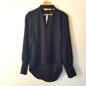 Zara Women Keyhole Bishop Sleeve Top
